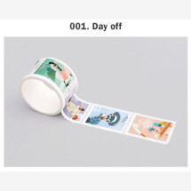 -Day Off Daily Stamp Masking Tape-21