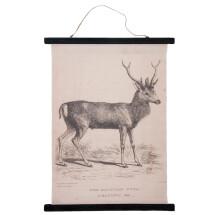 -Wall map deer wood / linen Clayre and Eef-2