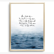 -Tales by Jen Art Print: Dream higher than the sky and deeper than the ocean-2