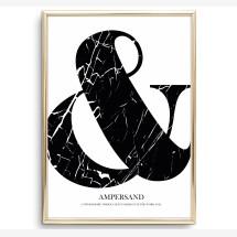 -Tales by Jen Art Print: Marble Ampersand-2