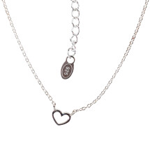 -Short necklace with small heart sterling silver-2