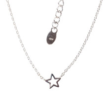 -Short necklace with small star sterling silver-2