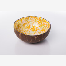 -Coconut shell of mosaic yellow-2