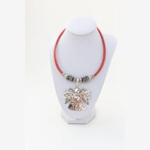 -Sylo jewelry necklace made of cork with a guardian angel and upcycled coffee capsules-23