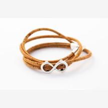 -Sylo jewelry wrap bracelet made of cork with an infinity symbol-21