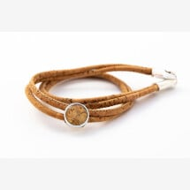 -Sylo jewelry wrap bracelet made of cork with a cabochon with cork-21
