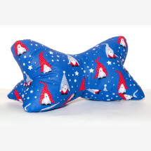 -Reading bone neck pillow bookend Christmas gift Gnome blue-21