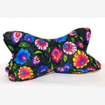 -Reading Bone Neck Pillow Black Colorful Folk Handmade Newly Personalized Gift Pillow-2