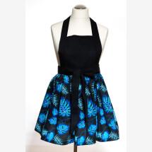 -Kitchen apron Cooking apron black / blue / turquoise Christmas present Handmade-2
