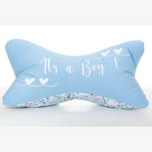 -Personalized Birth Gift Name Pillow Reading Bone Bookend Its a Boy-21