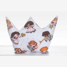 -Cushion crown decoration guardian angel angel brown handmade-21