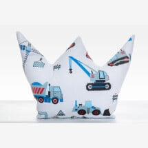 -Crown pillow decoration gift for the birth of baby excavator-21