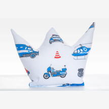 -Pillow Crown Police Children Gift Cars Handmade New-21