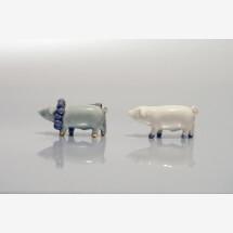 -Porcelain Brooch Pig Minka-21