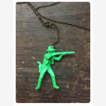 -Necklace with plastic cowboy-20