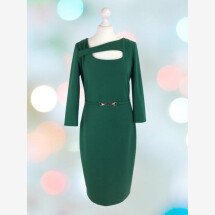 -Elegant cocktail dress with long sleeves-21