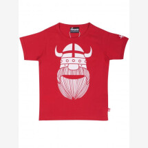 -Danefae red basic t-shirt with Wiking Erik and DK flag-21