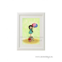 "-The sweet little bookworm"" print-23"