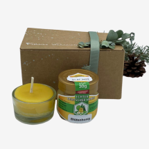 -Gift set 30g honey and tealight-21