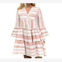 -Embroidery Dress in Rose von miss goodlife-21