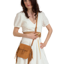 -Brown small leather crossbody with fringes-21