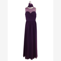 -Maxi dress with a tulle top-21
