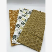 -Bread bag made of beeswax L leaves-2