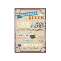 "-Wooden sign ""RECIPE TO HAPPINESS"" mural-21"