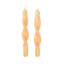 -Twisted candles Twist Golden Fleece Yellow Set of 2-21
