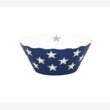 -SMALL DARK BLUE HAPPY BOWL WITH STARS Krasilnikoff-20