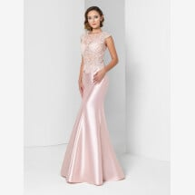 -Festive dress with shiny lace in rosé-21