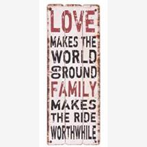-LOVE FAMILY wooden sign 30x80cm-22