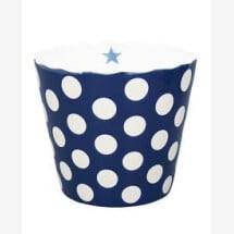 -LARGE HAPPY BOWL DARK BLUE WITH DOTS-20