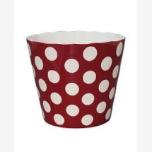 -LARGE HAPPY BOWL RED WITH DOTS RED-20