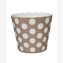 -LARGE HAPPY BOWL TAUPE WITH DOTS-20