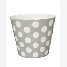 -LARGE HAPPY BOWL LIGHT GRAY WITH DOTS-20