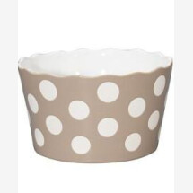 -TAUPE Bowl MEDIUM HAPPY BOWL WITH DOTS Krasilnikoff-2