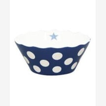 -SMALL DARK BLUE HAPPY BOWL WITH DOTS Krasilnikoff-2