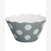 -LIGHT GRAY MICRO HAPPY BOWL WITH DOTS Krasilnikoff-2