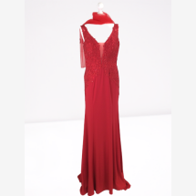 -Effective mermaid evening dress in red-21