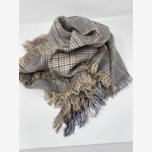 -Wool scarf-brown-beige-gray-orange by Mooilo-21