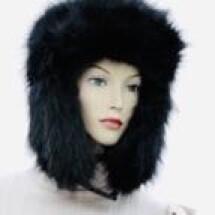 -Faux Fur Hat Black-2