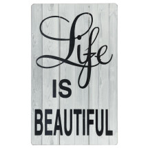 -Life is Beautiful wooden sign 37x60cm-22