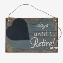 -Sign with blackboard pension counter blackboard-22