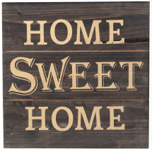 -HOME SWEET HOME WOOD sign 30x30cm-22