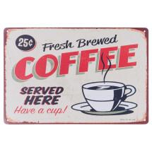 -Fresh Brewed Coffee metal sign 30x20cm-21