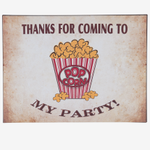 -Thanks for Coming To my Party metal sign 30x40cm-22