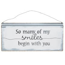 -SO MANY OF SMILES BEGIN WITH YOU metal sign 40x30cm-21