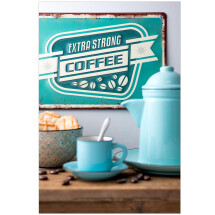 -Extra Strong Coffee metal sign-21
