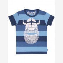 -Danefae Blue Striped T-Shirt with Wiking Erik-21